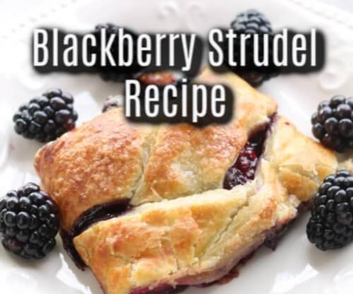 Blackberry Easy Recipe Strudel with Puff Pastry