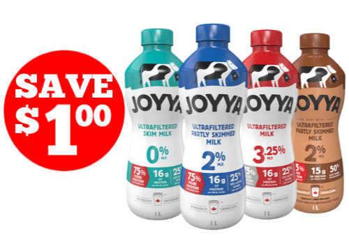 Saputo Coupon For Canada: Save on Joyya Milk