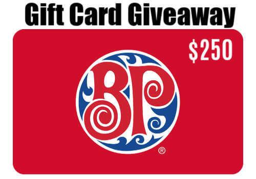 Boston Pizza Contest: WIN a $250 BP Gift Card