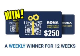 Scotts, Scotts Contest – WIN a Rona Gift Card