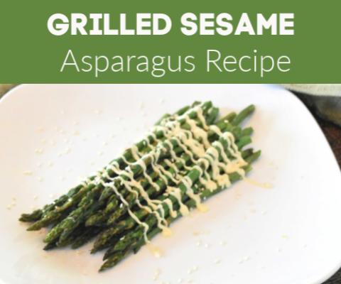 Simple Baked Asparagus -Sesame  ( Asian Tasting)