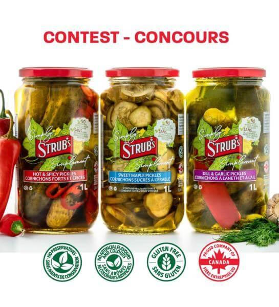 Strub's Pickles Canada Contest: Win a Case of Strubs Pickles