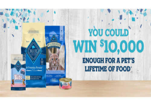 Blue Buffalo Contest: Win Petfood for Life or $10,000.00