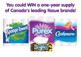 kruger products contest, Kruger Contest – WIN a Year of Bathroom tissue or FIND THE Cup to Win contest