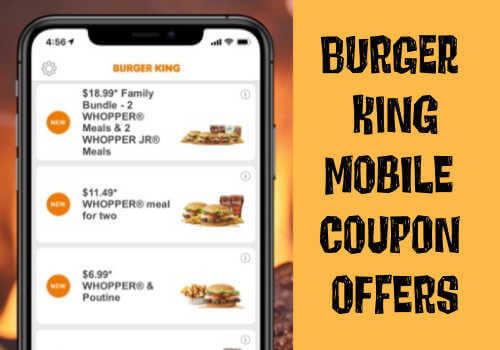 Burger King Coupon on Mobile App