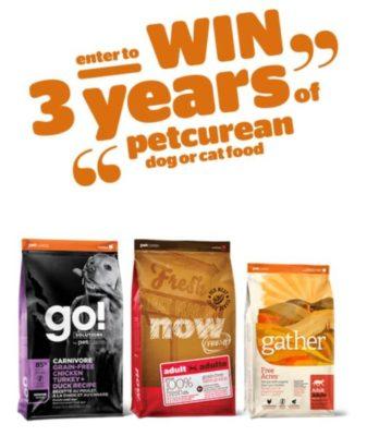 Petcurean Contest, Petcurean Contest: Win 3 YEARS of FREE Pet Food
