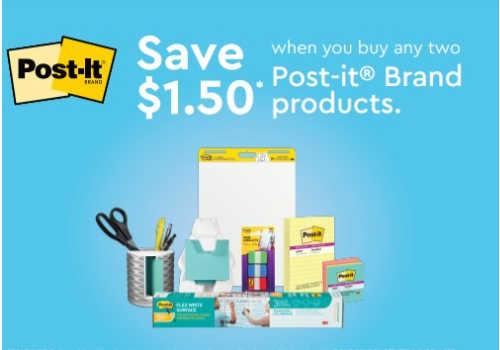 Post-It Brand Coupon -Save $1.50 Printable Coupon