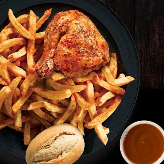 Quarter Chicken at Swiss Chalet Restaurant