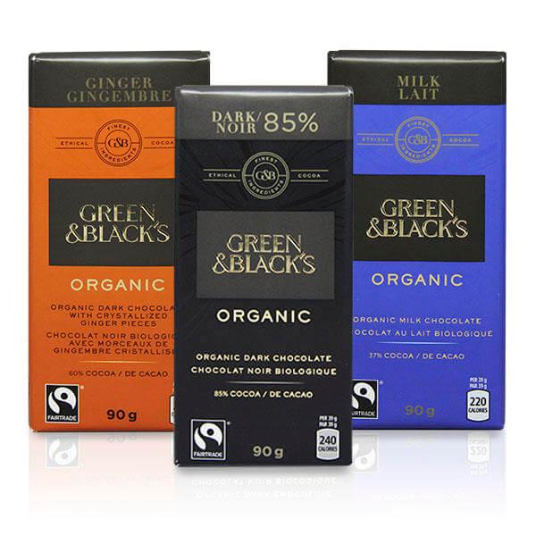 Green Black Organic Chocolate Bars