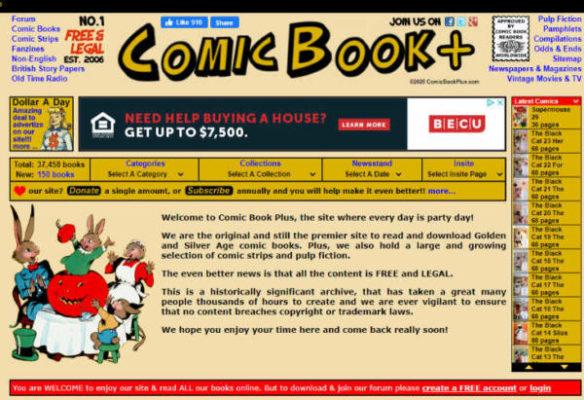 Comic Book Plus Website
