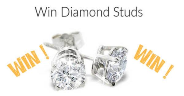 Win Diamond Studs