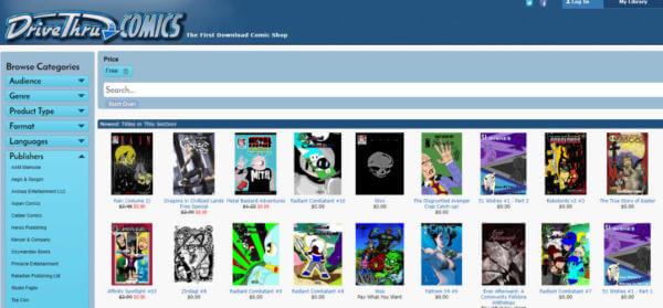 Drive Thru Comic Book Online Website