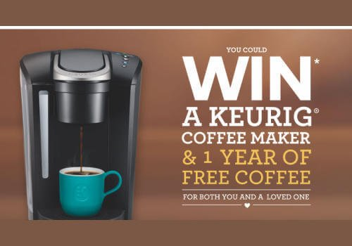 Keurig Contest Win Coffee Maker and Free Coffee