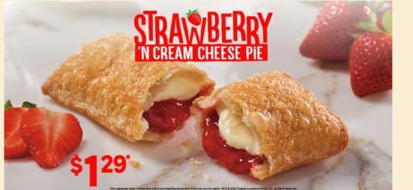 Popeye Chicken Strawberry Cheese Cake Pie