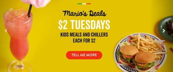 Marios Tuesday special