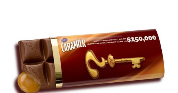 Caramilk Secret Chocolate Bar