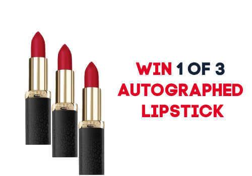Loreal Contest Win Lipstick