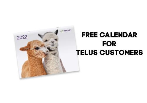 Free Calendar for Telus customers