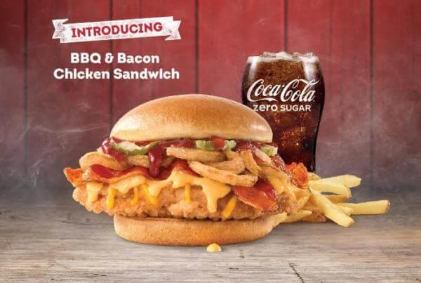 Wendys BBQ Bacon Burger
