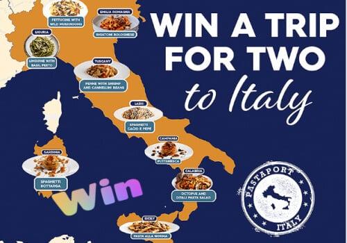 Barilla contest Win a trip to Italy