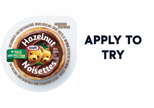 kraft apply to try hazelnut spread