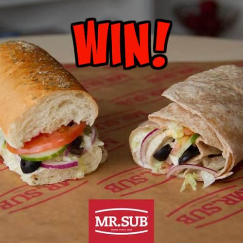 Mr Sub Contest: Win a Mr Sub Gift Card