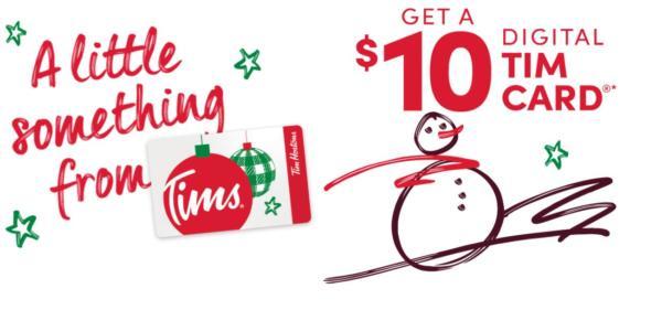 Tim Hortons Gift Card Bonus