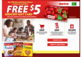 Cheerios Box promotion rebate free $5