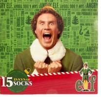 Movie Elf Sock Advent Calendar 15 days of socks