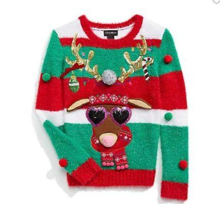 Girls Loud Reindeer Ugly Christmas Sweater