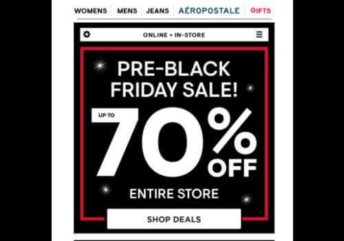 Bluenotes 70% off Pre Black Friday