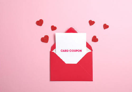 Save on Valentine day cards with coupon