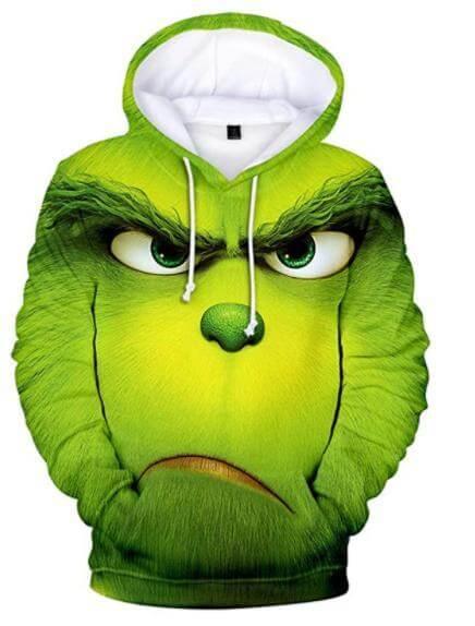 Mens Ugly Sweater Grinch Hoodie