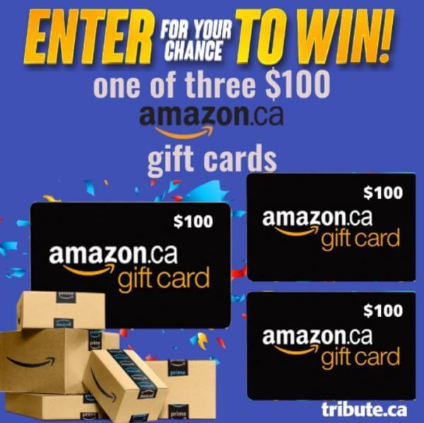 Tribute Contest Canada – Win a $100 Amazon Card