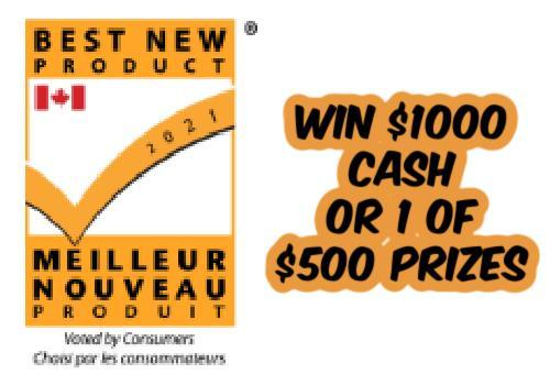 Chatelaine Magazine Contest: Best New Product  : Win $1000 Grand Prize or 1 of 3 $500 Prizes