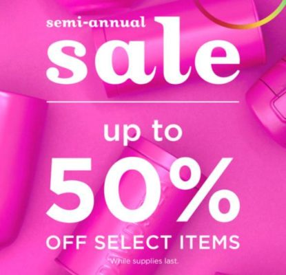 Semi Annual Sale is up to 50% off