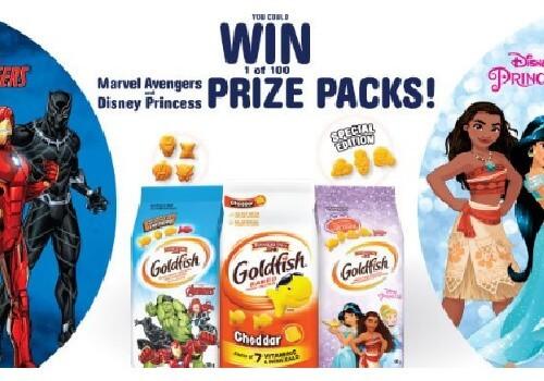 GoldFish Win Prize Packs Marvel or Disney