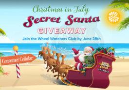Wheel of Fortune secret Santa Christmas in July contest