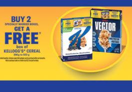 Buy 2 Get 1 FREE Kelloggs Cereal