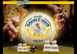 Double SHreddies contest win cash