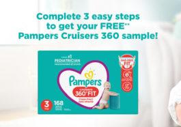 Pampers 360 diaper sample