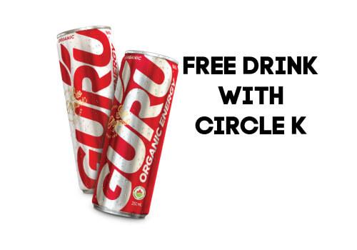 Free Guru Drink at Circle K