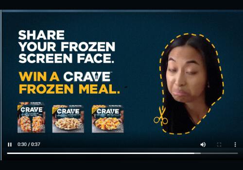Crave Frozen Face Contest