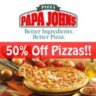 Papa Johns 50% off promo
