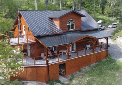 Pictured is Cabin where you would stay in this contest giveaway