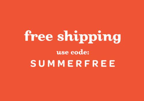 Free Shipping coupon code Sumemrfree