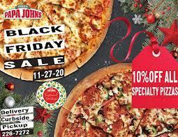 Black Friiday special at Papa Johns