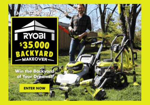 RYOBI Contest : Win a $35,000 Backyard Makeover