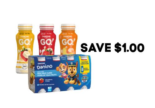 Save $1.00 on Select Danone Brand Yogurt