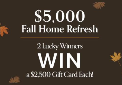 Linen Chest Contest: Win $5,000 Fall Home Refresh